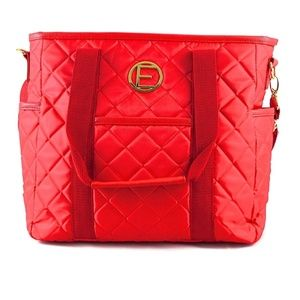 NWT Red quilted diaper bag or day bag changing pad
